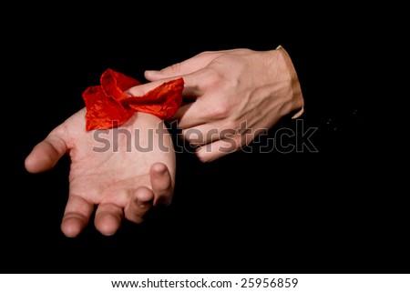 magician, hands - stock photo