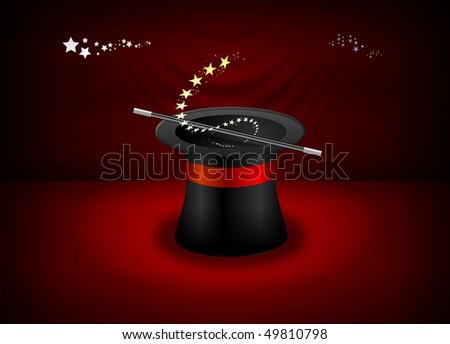 Magician Hat - stock photo
