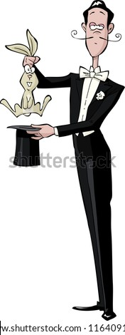 Magician on a white background raster version - stock photo