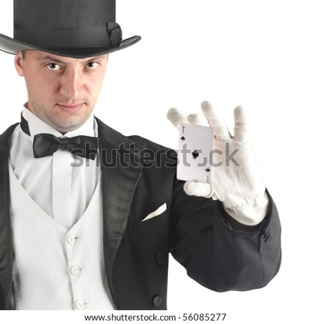magician present think map - stock photo