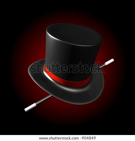 MAGICIAN'S HAT - stock photo
