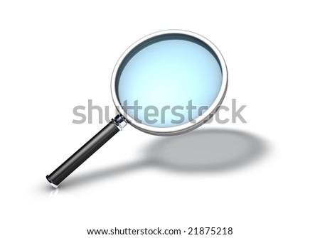 Magifying Glass Icon - stock photo