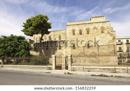 Magione church side view, Palermo, Sicily