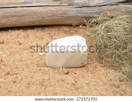 Magnesite on beach - stock photo