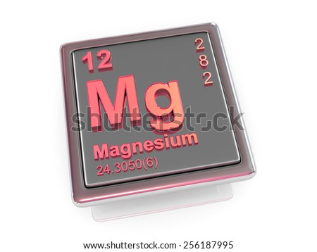 Magnesium. Chemical element. 3d - stock photo