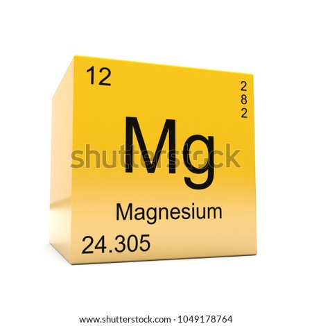 Magnesium Chemical Element Symbol Periodic Table Stock Illustration