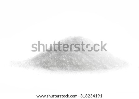 Magnesium Sulfate, Epsom Salt, isolated on white - stock photo