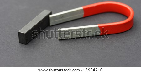 magnet and bar - stock photo