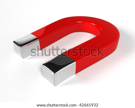 Magnet - 3d rendering - stock photo