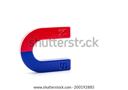 Magnet isolated white background - stock photo