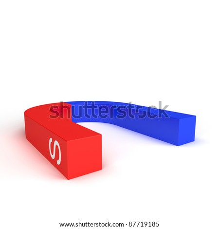 Magnet on a white background - stock photo