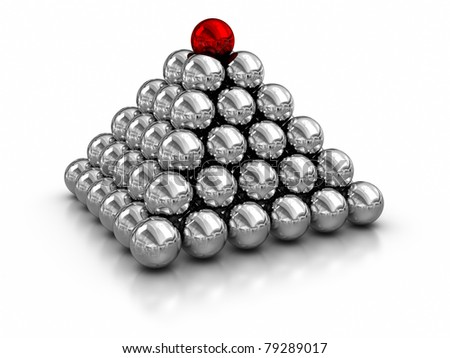 magnetic balls. - stock photo