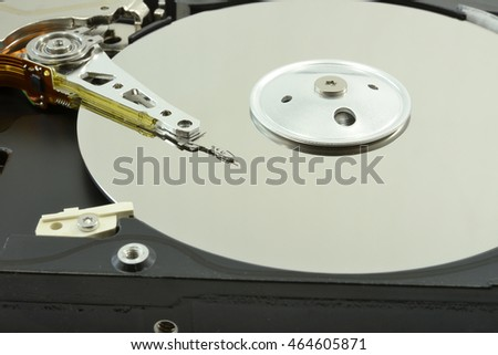 magnetic head of hard drive