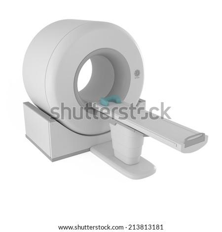 Magnetic Resonance Imager MRI scanner isolated on white - 3d illustration - stock photo