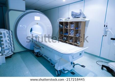 Magnetic resonance spectroscopy machine in hospital laboratory. - stock photo