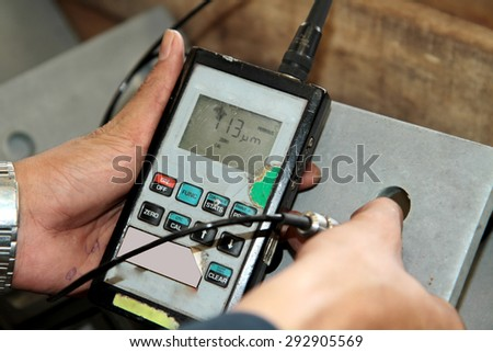 Magnetic thickness gauge for coating of steel galvanized