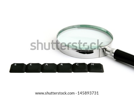 Magnification search - stock photo