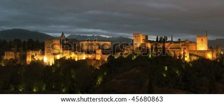Magnificent Alhambra - stock photo