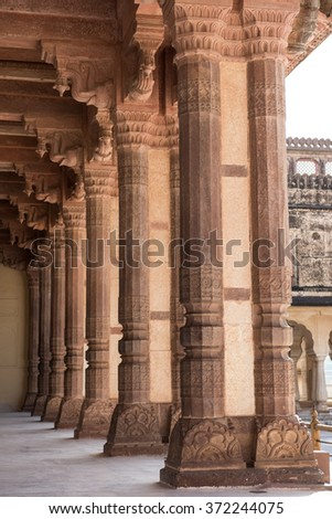 Magnificent Artwork in Palace - stock photo