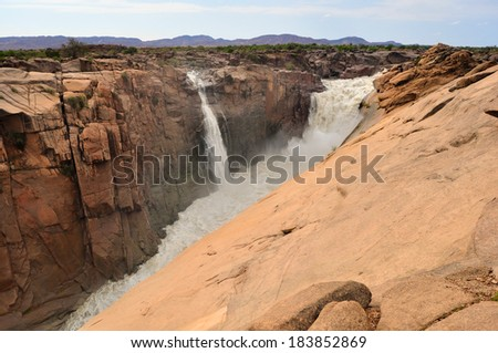 Magnificent Augrabies waterfall and canyon, South Africa - stock photo
