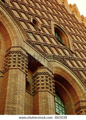 magnificent brick building - stock photo