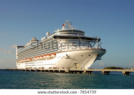 Magnificent cruise ship - stock photo