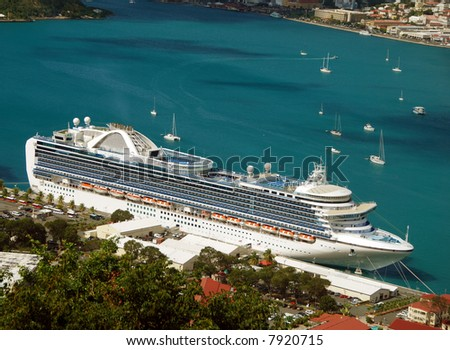Magnificent cruise ship vacation - stock photo