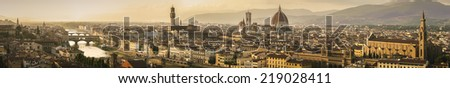 Magnificent panoramic view of Florence, Italy - stock photo
