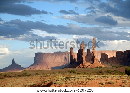Magnificent scene in Monument Valley, Utah, United States - stock photo