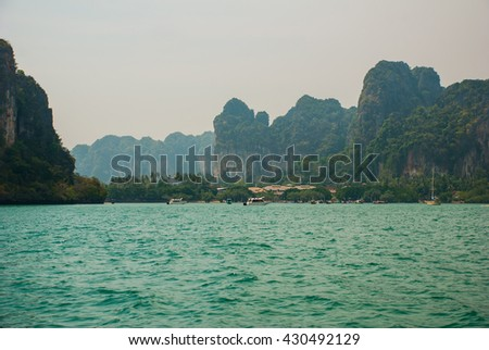 Magnificent scenery. The sea and the mountains, the Islands. Krabi, Thailand.