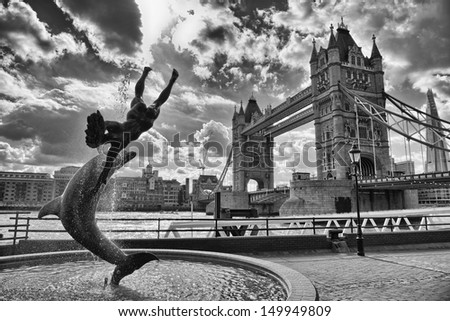 Magnificent view of Tower Bridge in London. - stock photo