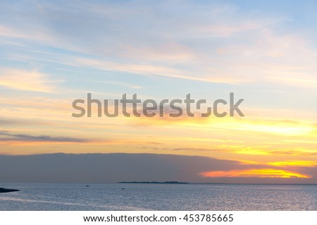 Magnificent View Sunset over Water  - stock photo
