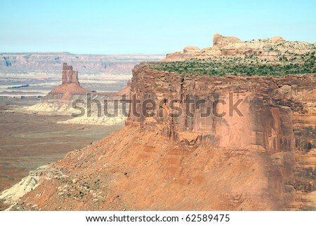 Magnificent views in Canyonlands National Park are every bit as breathtaking as the Grand Canyon, but with fewer people. - stock photo