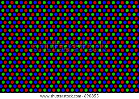 Magnified pixels - stock photo