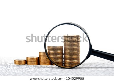 Magnifier and financial page