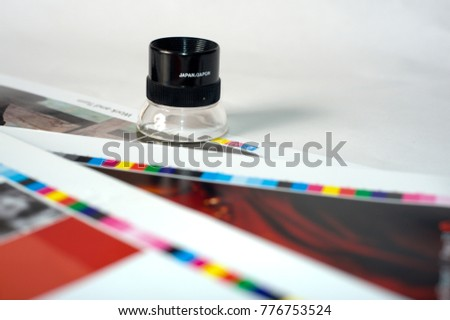 Magnifier On Color Chart Stock Photo 776753524 Shutterstock