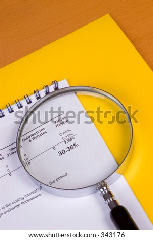 Magnifier over gross return on an investment.