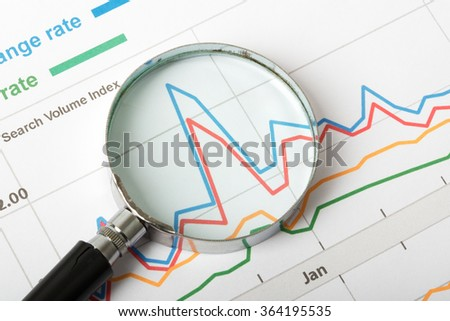 Magnifier with graphical charts