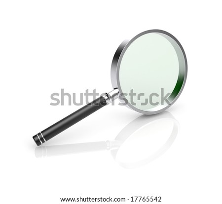 Magnify glass, 3d icon - stock photo
