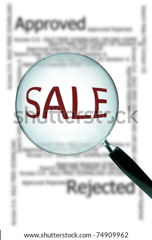 Magnify glass with word sale