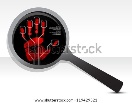 magnify security concept illustration design over a white background - stock photo