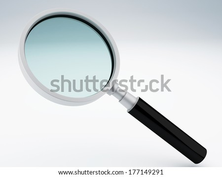 magnifying glass 3d