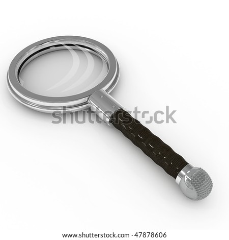 magnifying glass - 3d illustration