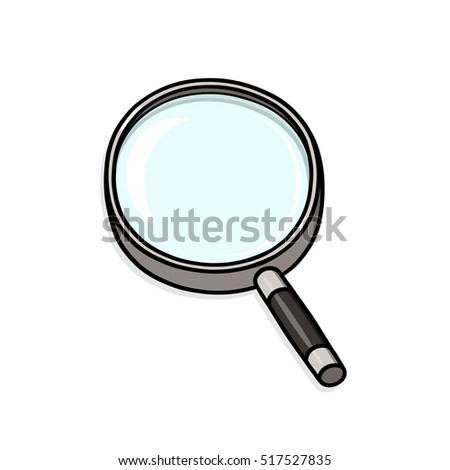 Magnifying glass illustration; Exploration tool