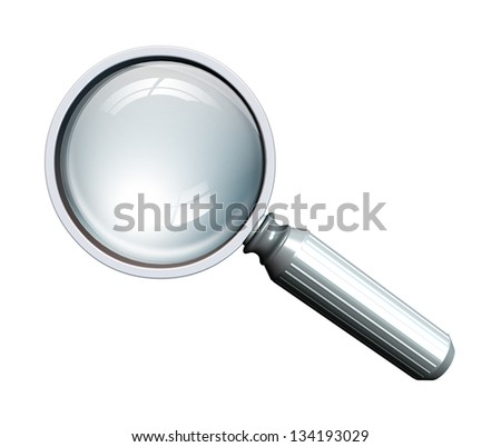 magnifying glass in metal - stock photo