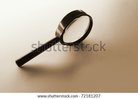 Magnifying Glass in Sepia Tone