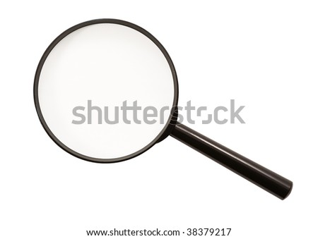 Magnifying glass (isolated)