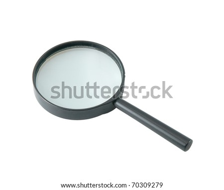 magnifying glass isolated on a white background - stock photo