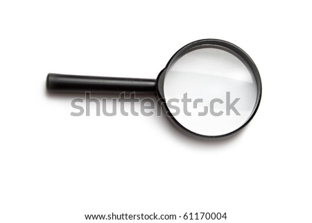 Magnifying glass isolated on the white background. - stock photo