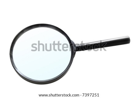Magnifying-glass isolated on white - stock photo